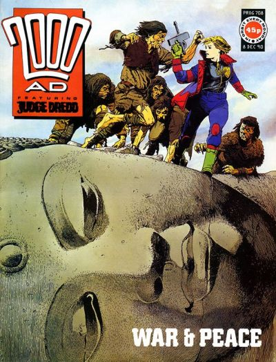 Cover for 2000 AD (Fleetway Publications, 1987 series) #708