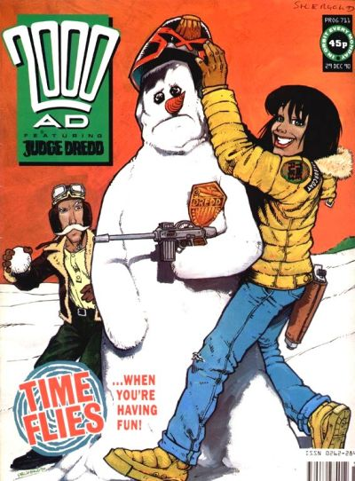Cover for 2000 AD (Fleetway Publications, 1987 series) #711
