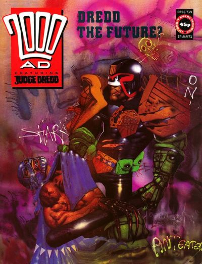 Cover for 2000 AD (Fleetway Publications, 1987 series) #714