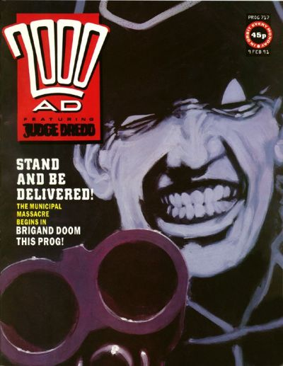 Cover for 2000 AD (Fleetway Publications, 1987 series) #717