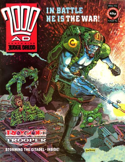 Cover for 2000 AD (Fleetway Publications, 1987 series) #721
