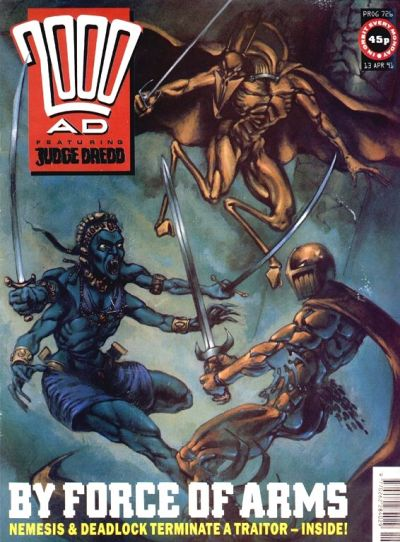 Cover for 2000 AD (Fleetway Publications, 1987 series) #726