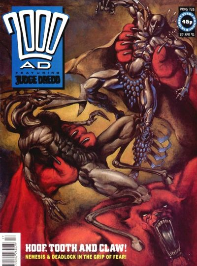 Cover for 2000 AD (Fleetway Publications, 1987 series) #728