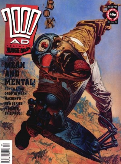 Cover for 2000 AD (Fleetway Publications, 1987 series) #730