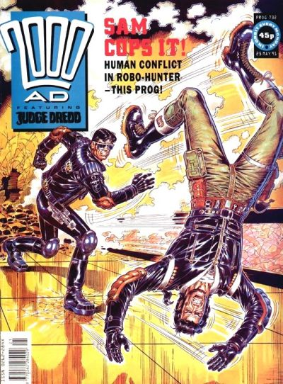 Cover for 2000 AD (Fleetway Publications, 1987 series) #732