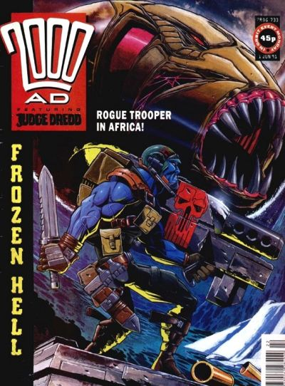 Cover for 2000 AD (Fleetway Publications, 1987 series) #733