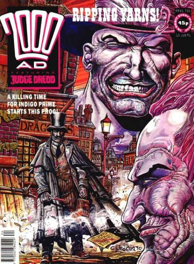 Cover for 2000 AD (Fleetway Publications, 1987 series) #735