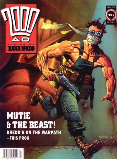 Cover for 2000 AD (Fleetway Publications, 1987 series) #736