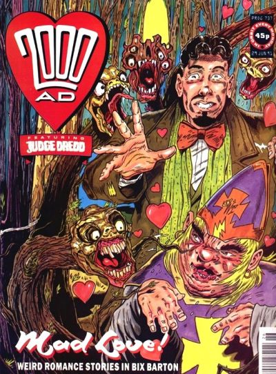 Cover for 2000 AD (Fleetway Publications, 1987 series) #737