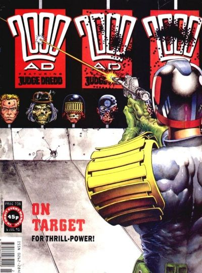 Cover for 2000 AD (Fleetway Publications, 1987 series) #738