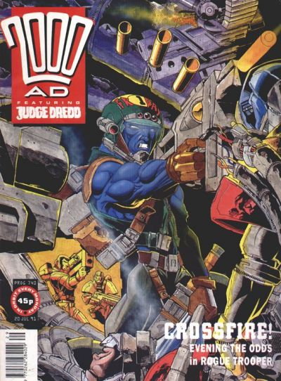 Cover for 2000 AD (Fleetway Publications, 1987 series) #740