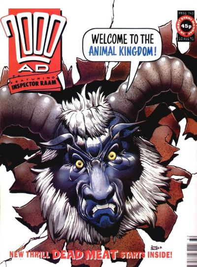 Cover for 2000 AD (Fleetway Publications, 1987 series) #743