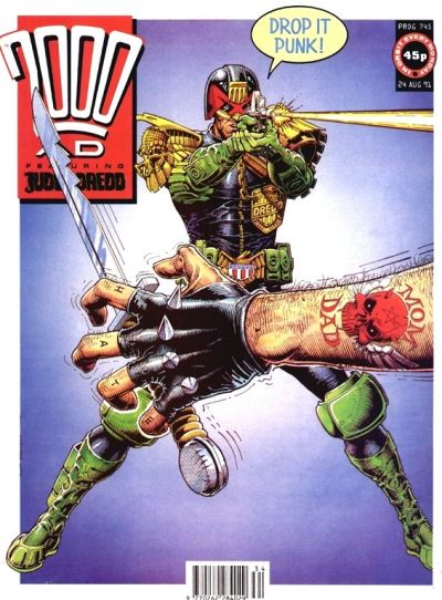 Cover for 2000 AD (Fleetway Publications, 1987 series) #745