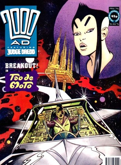 Cover for 2000 AD (Fleetway Publications, 1987 series) #746
