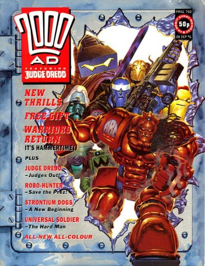 Cover for 2000 AD (Fleetway Publications, 1987 series) #750