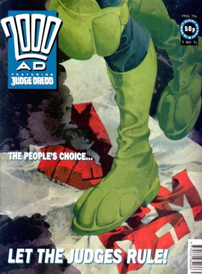 Cover for 2000 AD (Fleetway Publications, 1987 series) #756