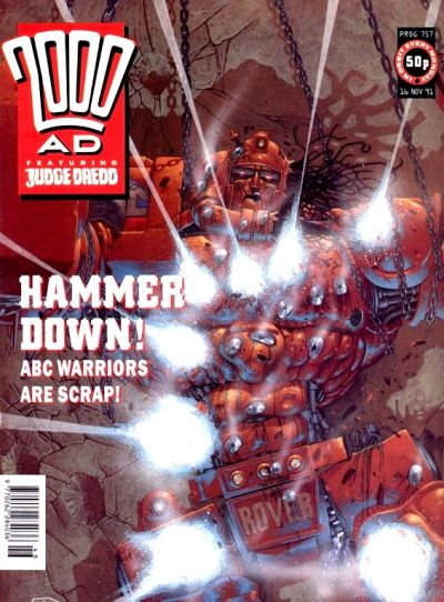 Cover for 2000 AD (Fleetway Publications, 1987 series) #757