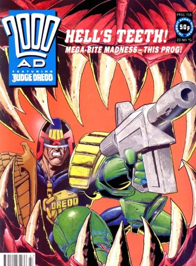 Cover for 2000 AD (Fleetway Publications, 1987 series) #758