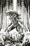 Cover for Alien (Marvel, 2021 series) #1 [Frankie's Comics Exclusive - Kael Ngu Black and White]