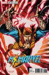 Cover for Ms. Marvel (Marvel, 2016 series) #20 [Incentive Jim Lee 'X-Men Trading Card' Variant (Lady Deathstrike)]