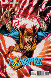 Cover Thumbnail for Ms. Marvel (2016 series) #20 [Incentive Jim Lee 'X-Men Trading Card' Variant (Lady Deathstrike)]