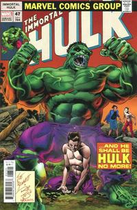 Cover Thumbnail for Immortal Hulk (Marvel, 2018 series) #47 [Joe Bennett Homage]