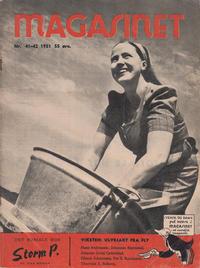 Cover for Magasinet (Oddvar Larsen; Odvar Lamer, 1946 ? series) #41-42/1951