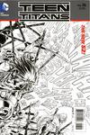Cover for Teen Titans (DC, 2011 series) #16 [Brett Booth / Norm Rapmund Black & White Wraparound Cover]