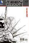 Cover for Teen Titans (DC, 2011 series) #13 [Brett Booth / Norm Rapmund Wraparound Black & White Cover]