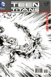 Cover for Teen Titans (DC, 2011 series) #14 [Brett Booth Black & White Wraparound Cover]