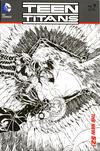 Cover for Teen Titans (DC, 2011 series) #9 [Brett Booth / Norm Rapmund Wraparound Black & White Cover]