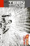 Cover for Teen Titans (DC, 2011 series) #5 [Brett Booth / Norm Rapmund Wraparound Black & White Cover]