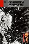 Cover for Teen Titans (DC, 2011 series) #6 [Brett Booth / Norm Rapmund Wraparound Black & White Cover]