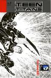 Cover for Teen Titans (DC, 2011 series) #8 [Brett Booth / Norm Rapmund Wraparound Black & White Cover]