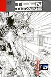 Cover for Teen Titans (DC, 2011 series) #7 [Brett Booth / Norm Rapmund Wraparound Black & White Cover]
