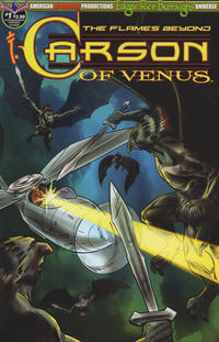 Cover Thumbnail for Edgar Rice Burroughs' Carson of Venus: The Flames Beyond (American Mythology Productions, 2019 series) #1 [Puis Calzada Variant Cover]