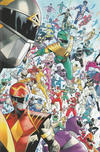 Cover for Mighty Morphin (Boom! Studios, 2020 series) #1 [Dan Mora Every Ranger Ever Cover]
