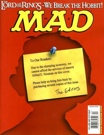 Cover for MAD (EC, 1952 series) #416