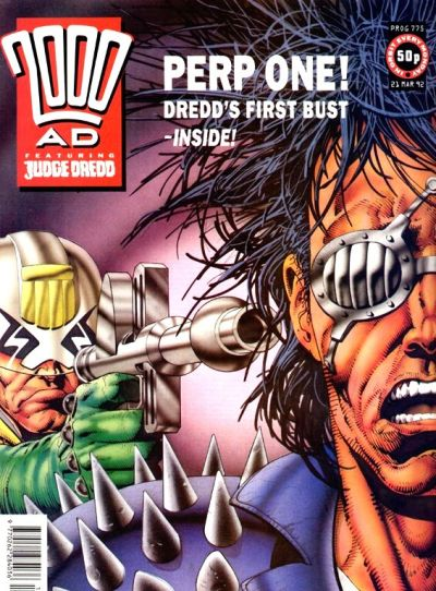 Cover for 2000 AD (Fleetway Publications, 1987 series) #775