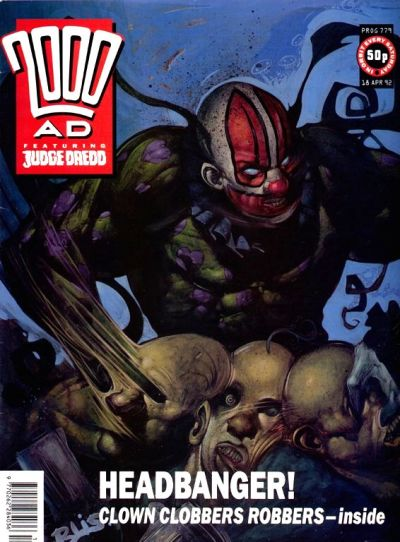 Cover for 2000 AD (Fleetway Publications, 1987 series) #779