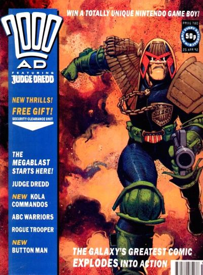 Cover for 2000 AD (Fleetway Publications, 1987 series) #780