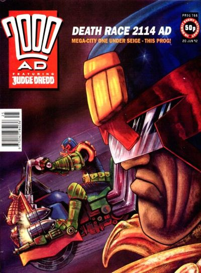 Cover for 2000 AD (Fleetway Publications, 1987 series) #788