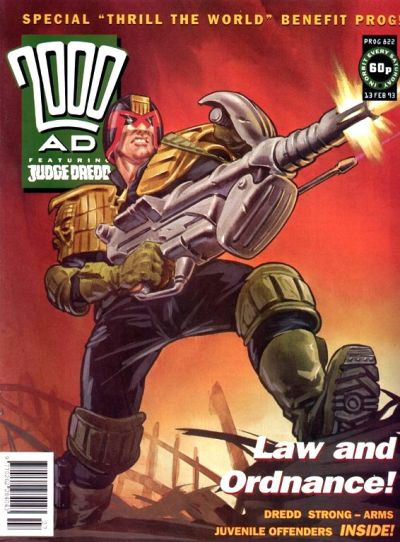 Cover for 2000 AD (Fleetway Publications, 1987 series) #822