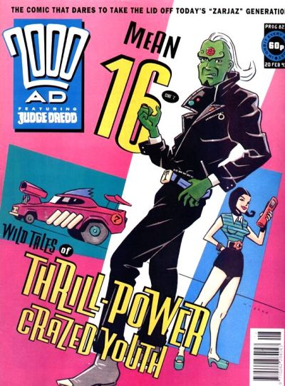 Cover for 2000 AD (Fleetway Publications, 1987 series) #823