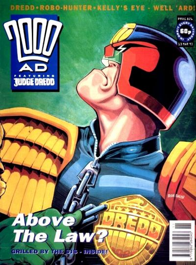 Cover for 2000 AD (Fleetway Publications, 1987 series) #826