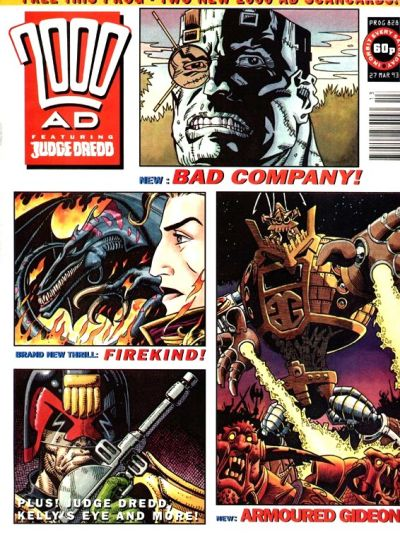 Cover for 2000 AD (Fleetway Publications, 1987 series) #828
