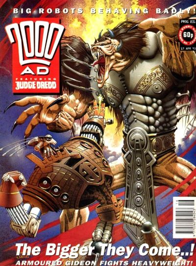 Cover for 2000 AD (Fleetway Publications, 1987 series) #831