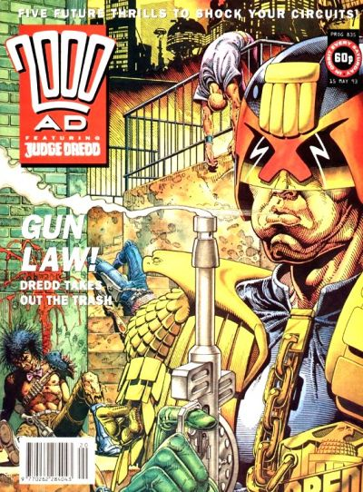 Cover for 2000 AD (Fleetway Publications, 1987 series) #835