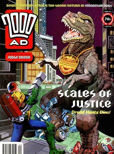 Cover for 2000 AD (Fleetway Publications, 1987 series) #855