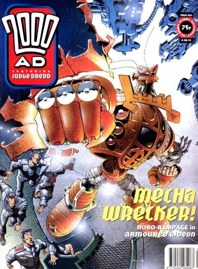Cover for 2000 AD (Fleetway Publications, 1987 series) #895
